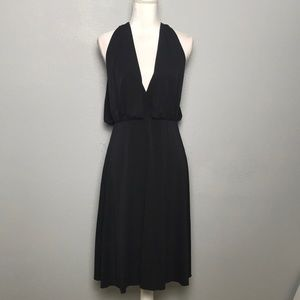 Trina Turk Black Draped Halter Dress